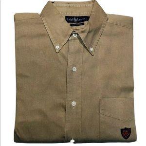 Vintage Polo Ralph Lauren shirt L Golf Crest Logo